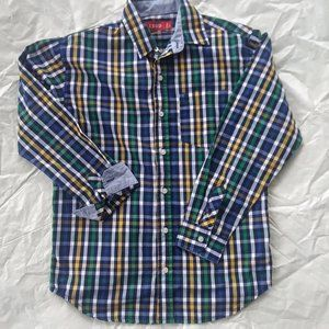 Izod Blue/Green Plaid Button Down